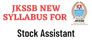 JKSSB Syllabus for Stock Assistant Animal /Sheep husbandary and Fisheries Department Advertisement No 04 of 2021