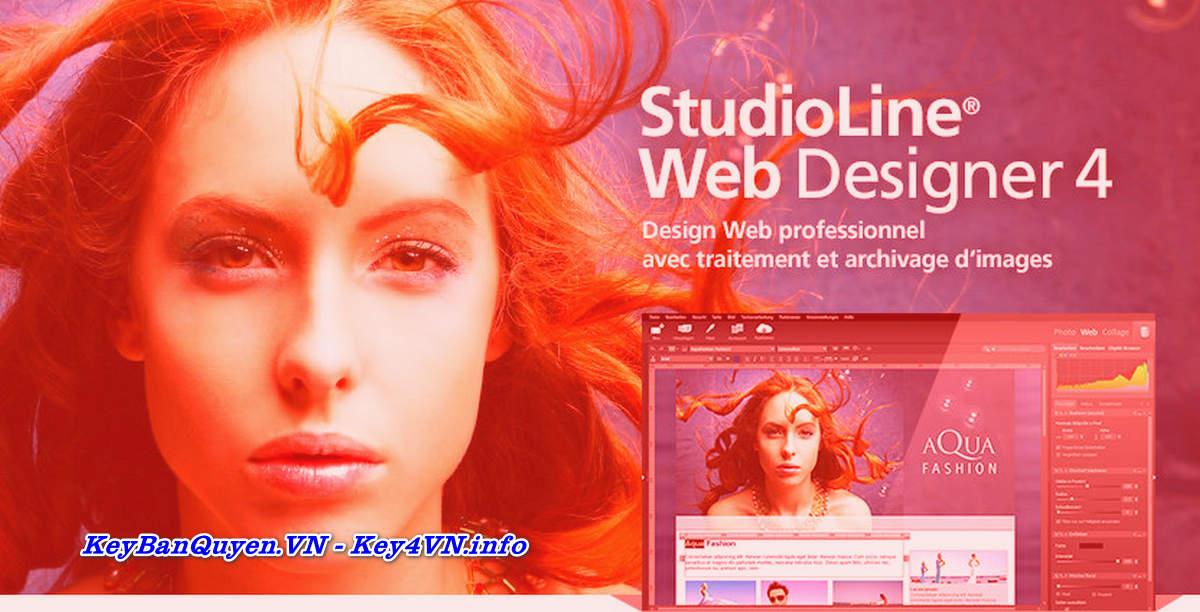 Download và cài đặt StudioLine Web Designer 4.2.53 Full Key, Thiết kế và xuất bản Website chuyên nghiệp.