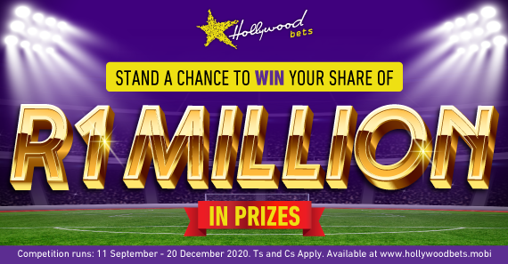 Stand a chance to win R1 million in prizes with Hollywoodbets