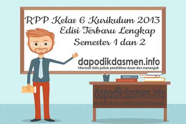 RPP Kelas 6 SD MI Kurikulum 2013 Lengkap Terbaru