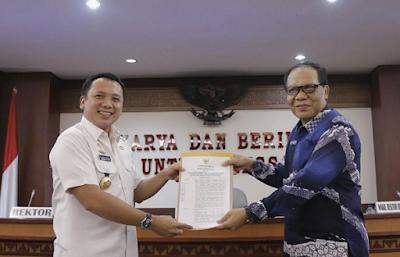 Gubernur Ridho Hibahkan Tanah 150 Hektar ke Universitas Lampung