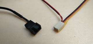 ファン用USB変換ケーブルとPCファンは3ピンで接続する