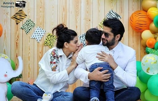 Actor Imran Ashraf son Rohan second Birthday