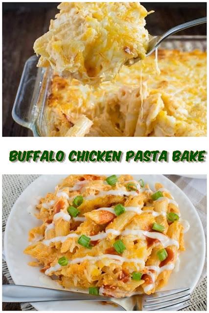 #BUFFALO #CHICKEN #PASTA #BAKE #chickenrecipes #recipes #dinnerrecipes #easydinnerrecipes