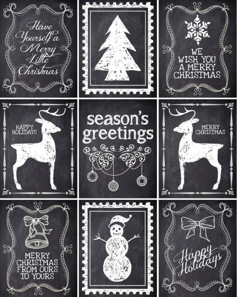 chalkboard christmas planner printables