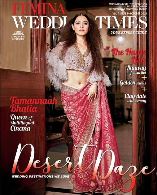 Tamannaah Bhatia Covers Femina Wedding Times Oct 2018 Issue