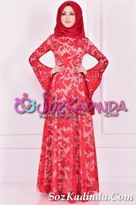 volan kol en güzel abiye elbise modelleri ve fiyatları