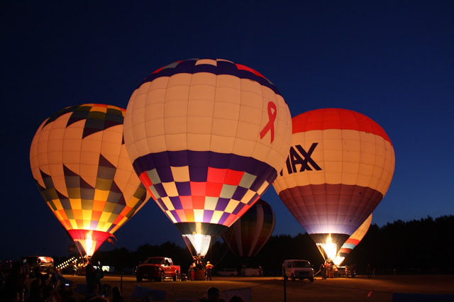 Balloon glow at Waterford Balloonfest in Wisconsin