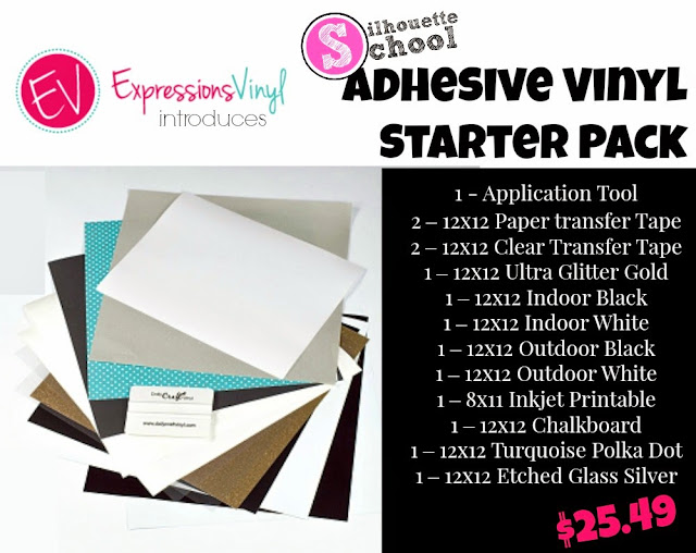Expressions Vinyl, Silhouette School, vinyl, starter packs