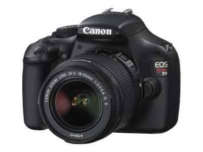 Canon EOS Rebel T3 12.2 MP Digital SLR Camera with EF-S 18-55mm IS II Lens Color Black
