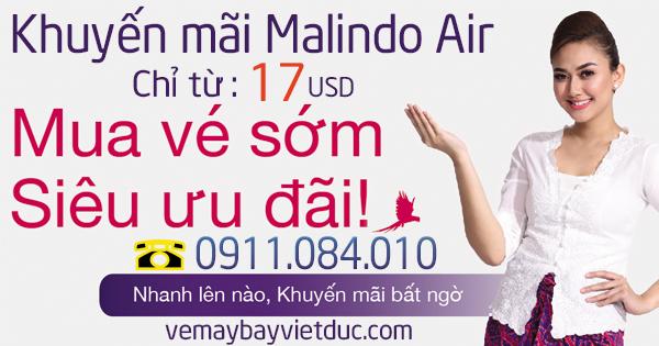 vé khuyến mãi đi Kuala Lumpur Malindo Air giá chỉ từ 17 usd