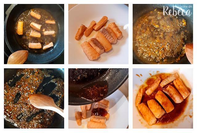 Receta de conos de salmón con naranja y soja: la salsa