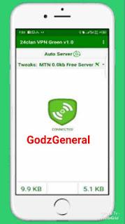 Latest MTN free Browsing Cheat On 24Clan VPN Green Edition Using StarTimes Plan