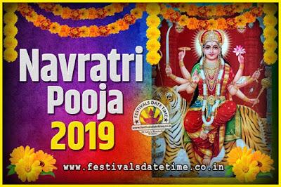 2019 Navratri Pooja Date and Time, 2019 Navratri Calendar