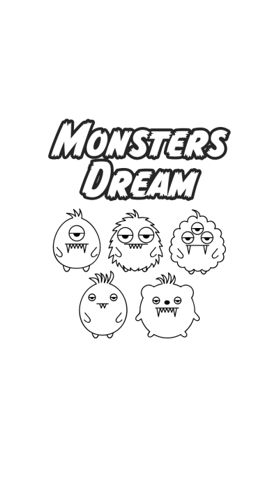 Monsters Dream - Simple White