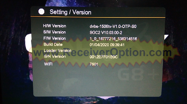 GALAXY G8+ 1506TV 512 4M NEW SOFTWARE WITH ECAST OPTION