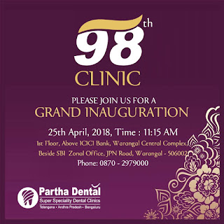 parthadental 98th Dental Clinic in Warangal