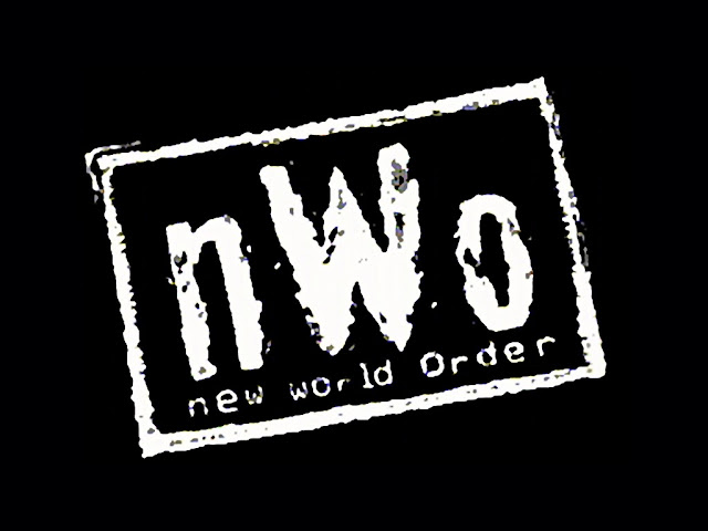 Text showing New World Order in White on Black