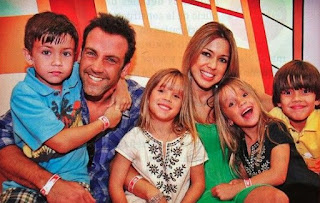 Veronica Rubio with her ex-husband Carlos Ponce & their kids
