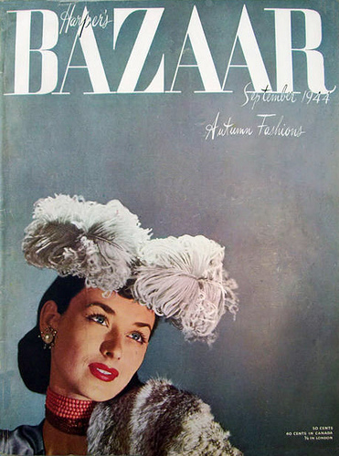 Bad Set Vintage Fashion Magazine Covers From 1940s-1950s ~ Vintage Everyday