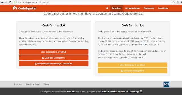 Install Framework Codeigniter