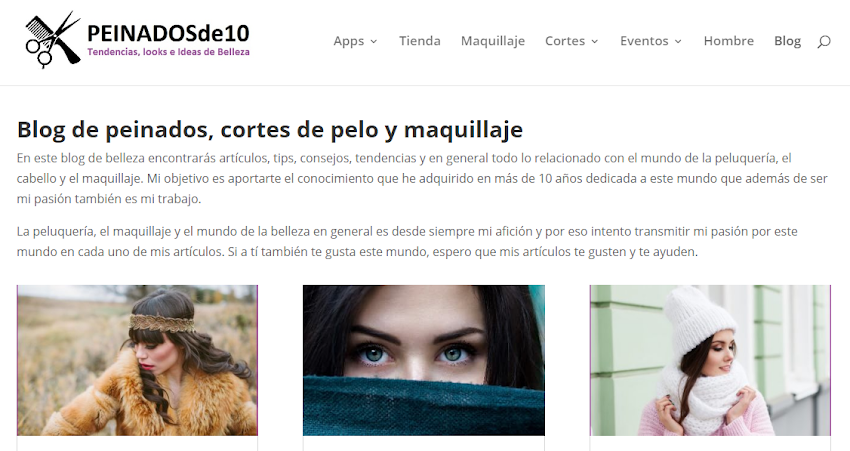 Website Review: Peinadosde10.com todo para tu cabello en un solo lugar!