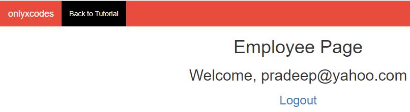 employee account