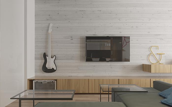 Thiết kế nội thất căn hộ chung cư nhỏ 42m2- 2