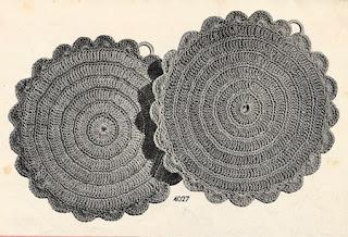 Vintage Round Crochet Potholders Pattern