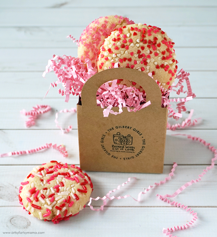Bake up some LOVE this Valentine's Day with these easy Valentine Sprinkle Cookies!