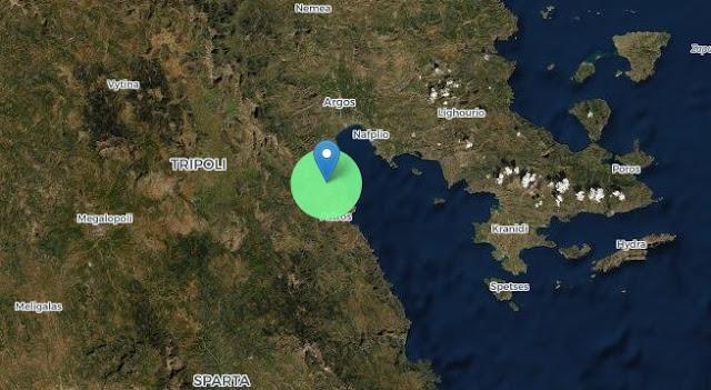 Αργολίδα: Μικρή σεισμική δόνηση κοντά στους Μύλους