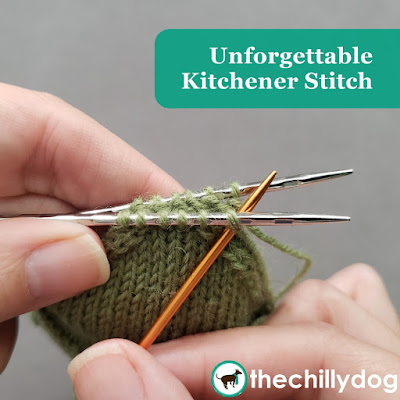 Knitting Video Tutorial - Never forget if the first stitch in the Kitchener stitch graft is worked knitwise or purlwise