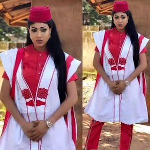 #agbadachallenge : Female Celebrities Rocks Stylish Agbada Against Men  (Photos)