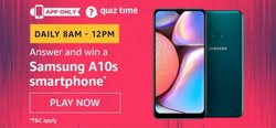 Amazon Quiz 15 December 2019 Answer Today Win - Samsung A10s Smartphone