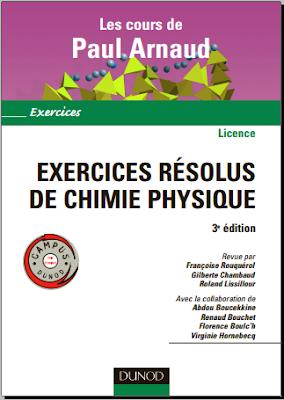Télécharger Livre Gratuit Exercices résolus de chimie physique pdf