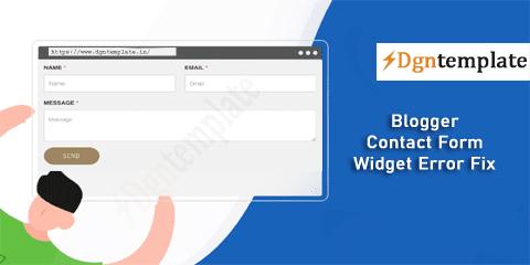 Fix Error in Blogger Contact Form Widget