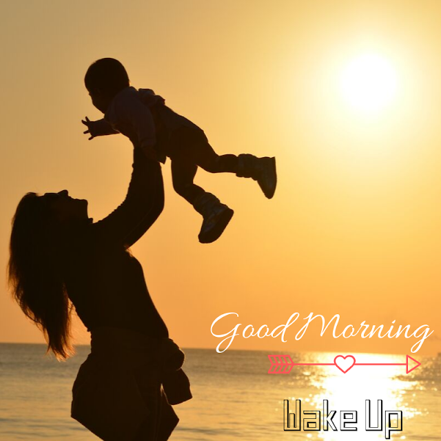 Beautiful Baby With Mother Good Morning Images