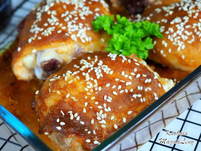 Pieczone udka z kurczaka po tajsku