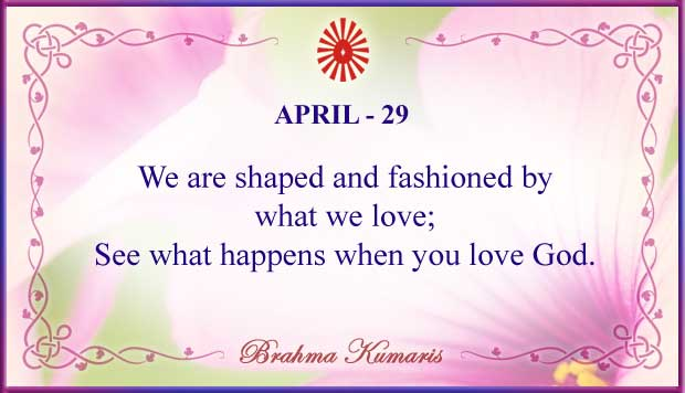 Thought For The Day April 29