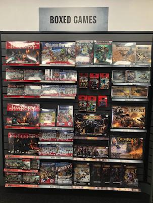 Games Workshop Nottingham Boxed Games Shelf Section