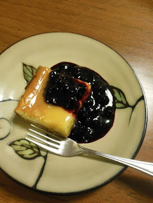 Lemon Cheesecake with Lemon Curd and Blueberry Sauce, delicious!