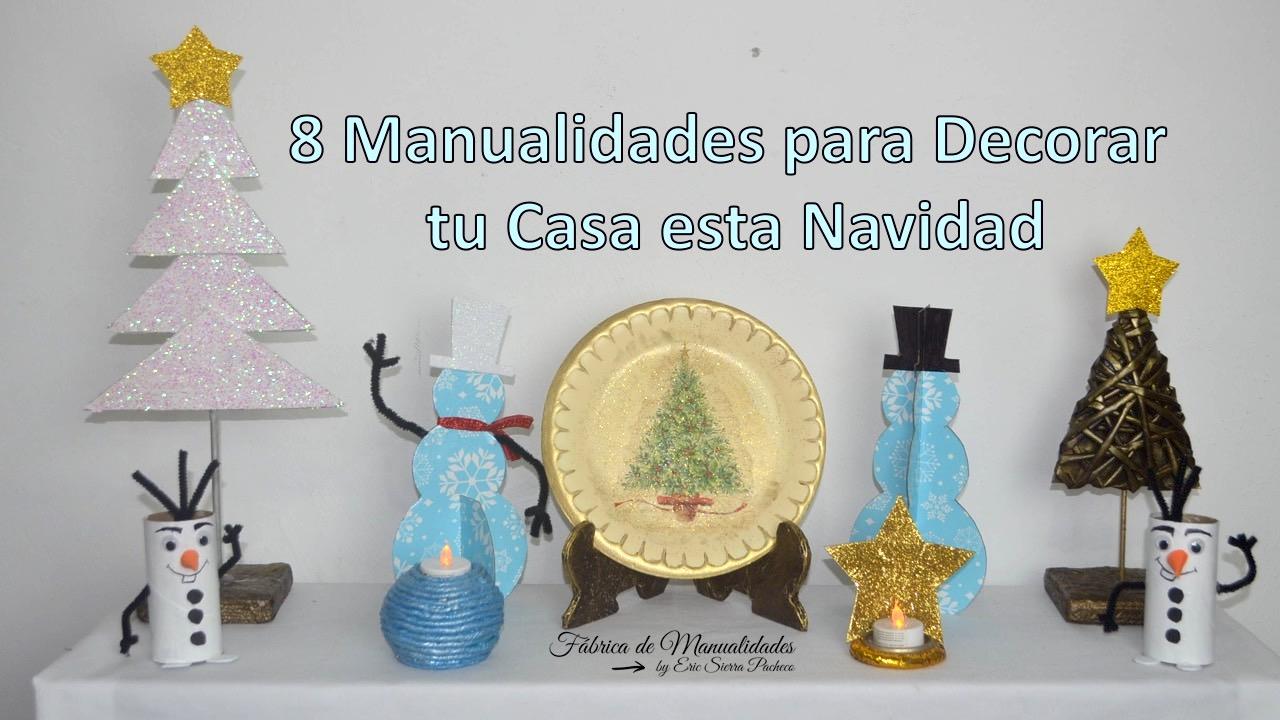 F brica de manualidades 8 manualidades para decorar tu - Decorar casa navidad manualidades ...