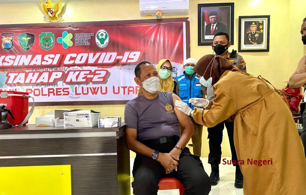 373 Personel Polres Luwu Utara Jalani Vaksinasi Covid 19