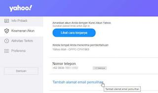 Cara Menambahkan Email Pemulihan