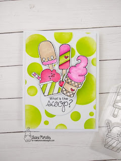 What's the scoop? a card by Diane Morales - Summer Scoops Stamp Set by Newton's Nook Designs.