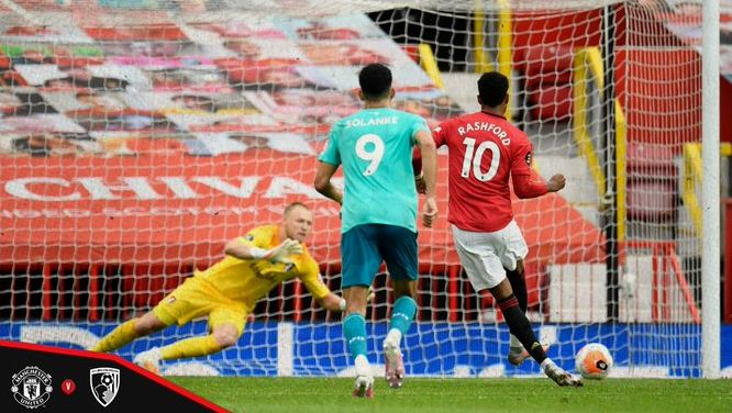 HT: Manchester United Unggul 3-1 atas AFC Bournemouth