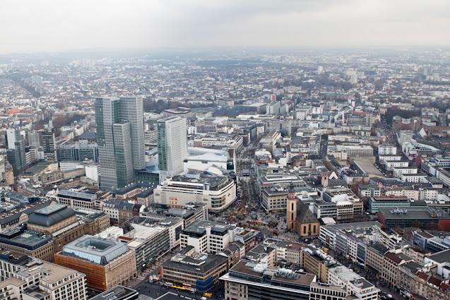 Panorama dalla Main tower-Francoforte