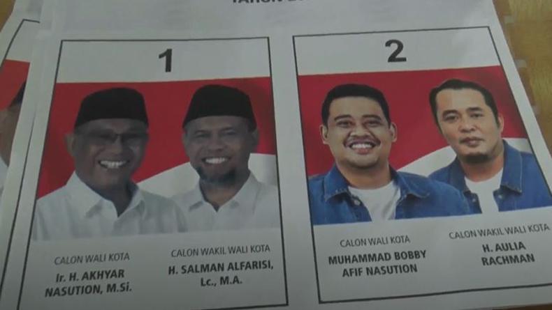 Viral, Foto Paslon Akhyar-Salman Gelap dan Menantu Jokowi Cerah