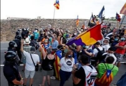 El republicanismo catalán y español unidos contra la monarquia borbónica en Poblet