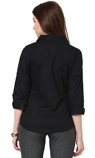 Women's Black Slim Shirt